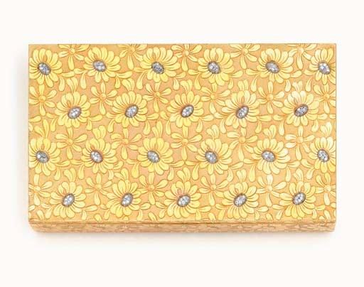 A retro diamond and gold Marguerites minaudière, by Van Cleef & Arpels. Sold for $10,800 on 14 December 2006  at Christie's in New York