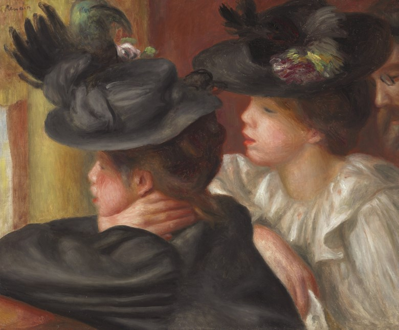 Pierre-Auguste Renoir (1841-1919), Au Théâtre, la loge, painted in 1894. 18⅛ x 22  in (46 x 55.8  cm). Sold for $6,089,000 on 6 May 2008 at Christie's in New York