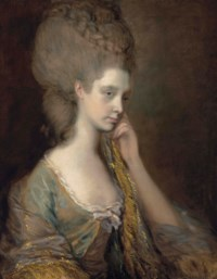 Portrait of Lady Anne Thistlethwaite, Countess of Chesterfield (1759-1798), bust-length, in a blue dress