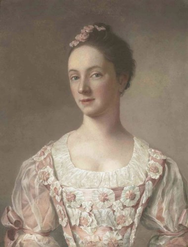 Jean-Etienne Liotard (1702-1789), Portrait of a young lady, bust-length, in a pink dress decorated with rosettes. Pastel on vellum. 21¼ x 16½  in (54 x 41.8  cm). Sold for £337,250 on 5 July 2011 at Christie's in London