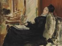 Jeune femme au livre