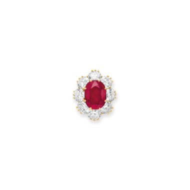 A ruby and diamond ring, by Van Cleef & Arpels. Sold for $4,226,500 on 13 December 2011  at Christie's in New York