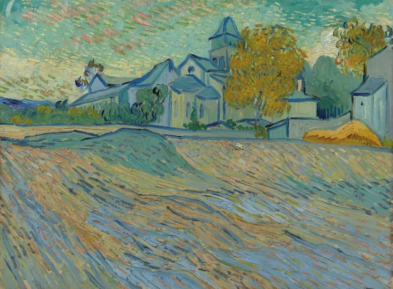 Vincent van Gogh (1853-1890), Vue de lasile et de la Chapelle de Saint-Rémy, 1889. Oil on canvas. 17¾ x 23¾  in (45.1 x 60.4  cm). Sold for £10,121,250 on 7 February 2012 at Christie's in London