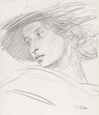 Dorelia in a hat