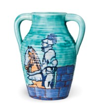 A CLARICE CLIFF 'KNIGHT ERRANT' INSPIRATION LOTUS JUG