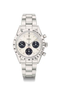 Rolex. An extremely rare and important stainless steel chronograph wristwatch with pulsation dial and bracelet