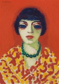 La femme au collier vert