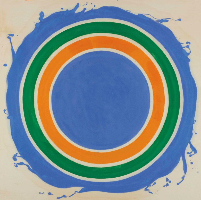 Kenneth Noland (1924-2010), Untitled, 1958-1959.42 x 42 in (106.6 x 106.6 cm). Sold on 16 May 2013 at Christie's in New York.© Estate of Kenneth NolandVAGA at ARS, NY and DACS, London 2019