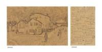 La maison de Vincent à Arles (La maison jaune) (recto); page of a letter from Vincent to his brother Theo (verso)