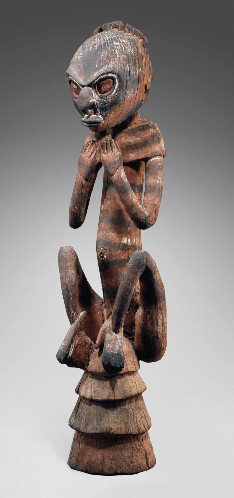 Aceremonial roof figure, Middle Sepik, Yuat river, Papua New Guinea, 1600-1890. Height 41¾ in(106 cm). Sold for €2,505,500 on 19 June 2013 at Christie's in Paris