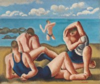 Swimmers Resting