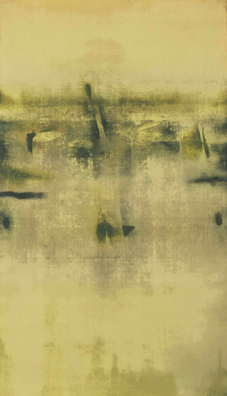 Vasudeo S. Gaitonde (1924-2001), Untitled, 1970. 59⅞ x 34¾ in (152.1 x 88.3  cm). Sold for £962,500 on 10 June 2015 at Christie's in London