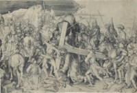 Christ carrying the Cross: Large Plate