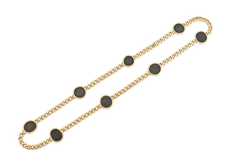 A 'Gemme Nummarie' longchain necklace, by Bulgari. Sold for £22,500 on 29 November 2017 at Christie's in London