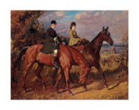 Going to the Meet: Captain F.G. Chamberlin and his sister on Mousehold Heath, Norwich