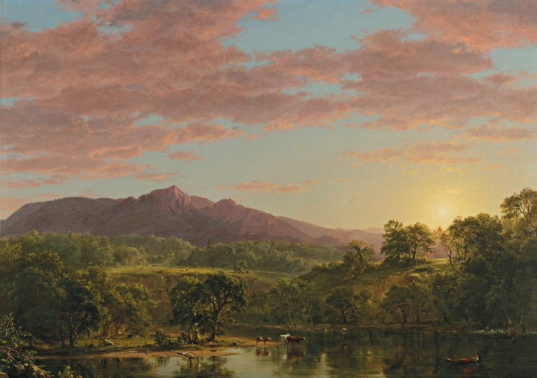 Frederic Edwin Church (1826-1900), A New England Lake, 1854. Oil on canvas. 30 x 42  in (76.2 x 106.7  cm). Sold for $1,812,500 on 21 November 2017 at Christie's in New York