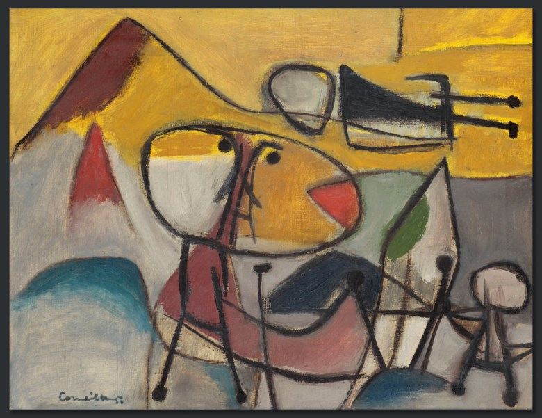 Corneille (1922-2010), Le Montagnard (The Mountain Dweller), painted in 1950. 35 x 44.5 cm. Estimate €30,000-50,000. This lot is offered in Post-War & Contemporary Art on 26-27 November 2018 at Christie's in Amsterdam