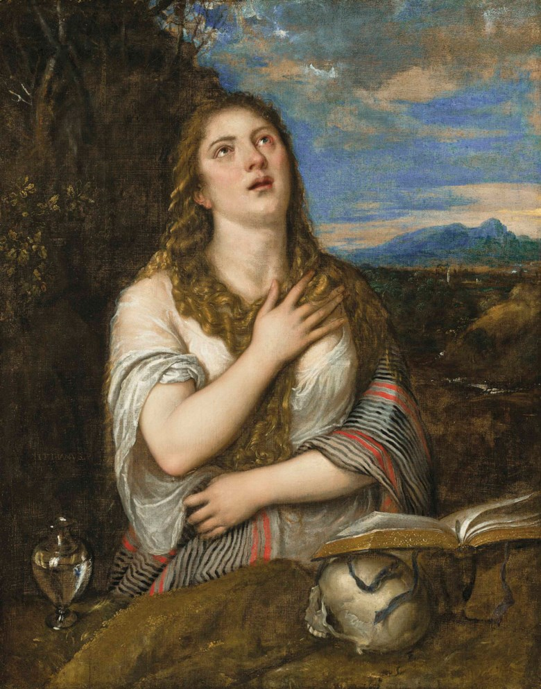 Tiziano Vecellio, called Titian (148590-1576), The Penitent Magdalen. 48⅛ x 37⅞  in (122.4 x 96.2  cm). Estimate £600,000-800,000. Offered in theOld Masters Evening Sale on 5 July 2018 at Christie's in London