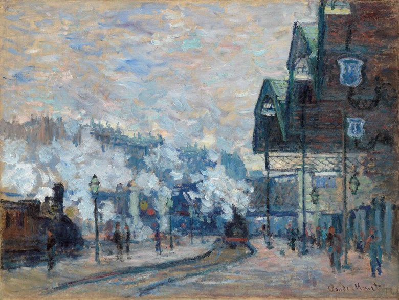 Claude Monet (1840-1926), La Gare Saint-Lazare, vue extérieure, 1877. 23¾ x 31⅝ in (60.4 x 80.2 cm). Sold for £24,983,750 on 20 June 2018 at Christie's in London