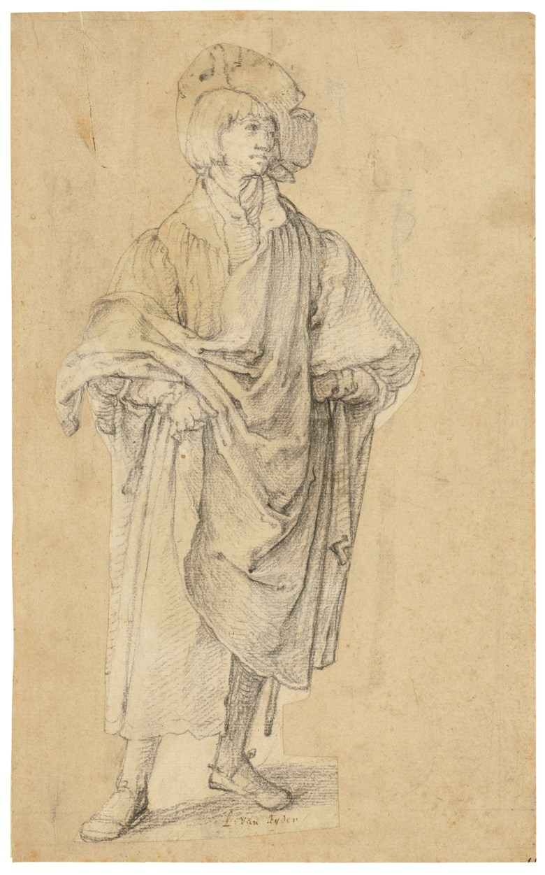 Lucas van Leyden (14891494-1533), A young man standing. 11 x 5⅛  in (27.9 x 13.2 cm). Sold for £11,483,750 on 4 December 2018 at Christie's in London
