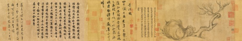 Su Shi (1037-1101), Wood and Rock. Overall with mounting 27.2 x 543 cm (10¾ x 213¾ in). Sold for HK$463,600,000 on 26 November 2018 at Christie's in Hong Kong