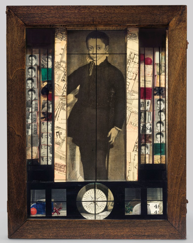 Joseph Cornell (1903-1972), Medici Slot Machine Object, 1942. Box construction — wood, glass, mirror, metal, marbles, jacks, coin, paint and printed paper collage. 15½ x 12 x 4⅜  in (39.4 x 30.5 x 11  cm). Sold for $5,037,500 on 15 November 2018 at Christie's in New York © The Joseph and Robert Cornell Memorial FoundationVAGA at ARS, NY and DACS, London 2020