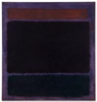 Untitled (Rust, Blacks on Plum)
