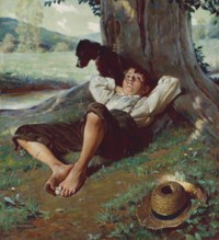 Barefoot Boy Daydreaming