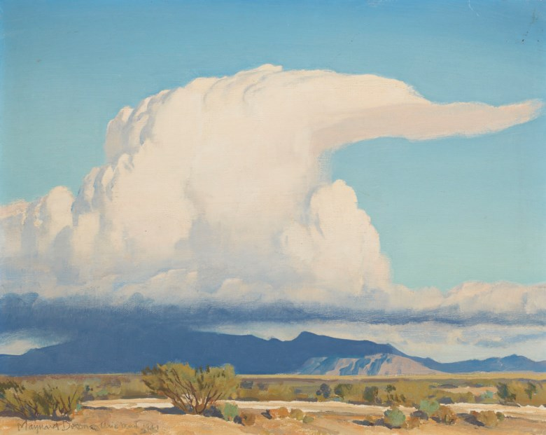 Maynard Dixon (1875-1946), Cloud, painted in 1941. 16 x 20  in (40.6 x 50.8  cm). Sold for $68,750 on 20 November 2018 at Christie's in New York