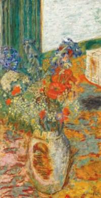 Fleurs dans un pot de grès ou Intérieur, fleurs des champs