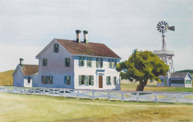 Edward Hopper (1882-1967), Richs House, 1930. Watercolour and charcoal on paper. 16 x 25 in (40.6 x 63.5 cm). Estimate $2,000,000-3,000,000. This lot is offered inThe Collection of David and Peggy Rockefeller Art of the Americas, Evening Saleon 9 May at Christie's in New York