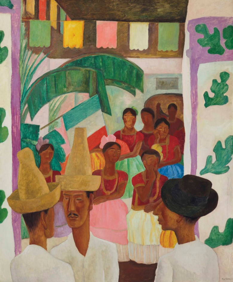 Diego Rivera (1886-1957), The Rivals, painted in 1931. 60 x 50  in (152.4 x 127  cm). Sold for $9,762,500 in The Collection of Peggy and David Rockefeller Art of the Americas, Evening Sale on 9 May 2018 at Christie's in New York