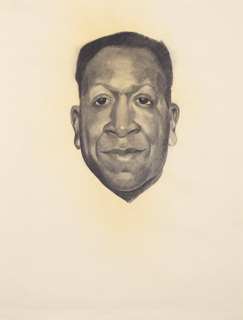 Georgia OKeeffe (1887-1986), Beauford Delaney, executed in 1943. Charcoal on paper. 24¾ x 18½ in (62.9 x 47 cm). Sold for $372,500 on 13 November 2018 at Christie's in New York. © 2018 Georgia OKeeffe Museum  Artists Rights Society (ARS), New York
