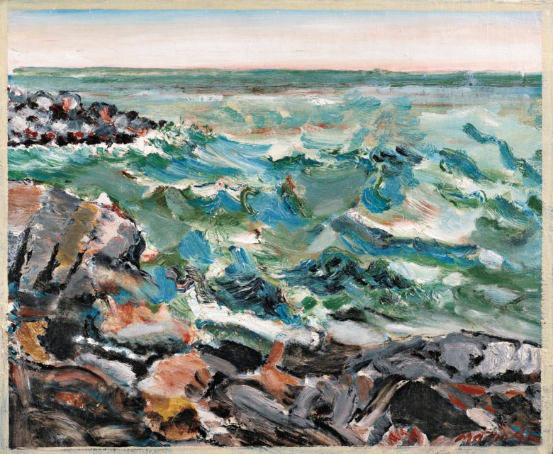 John Marin (1870-1953), My-Hell Raising Sea, 1941. 25 x 30 in (63.5 x 76.2 cm). Sold for $1,572,500 on 13 November 2018 at Christie's in New York