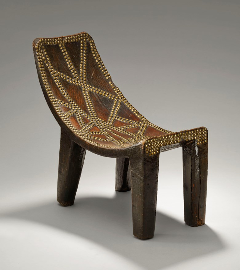 A Ngombe stool, Congo. Height 42  cm (16½  in). Estimate €20,000-30,000. This lot is offered in Masterpieces of African and Oceanic Art from the Adolphe Stoclet Collectionon October 30 2018 at Christie's in Paris