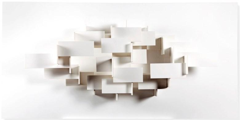 Joost Baljeu (1925-1991), Synth. constr. WXI_4c, 1960-1969. 100 x 200 x 30 cm. Estimate €30,000-50,000. Offered in Post-War & Contemporary Arton30 April 2019 at Christie's in Amsterdam