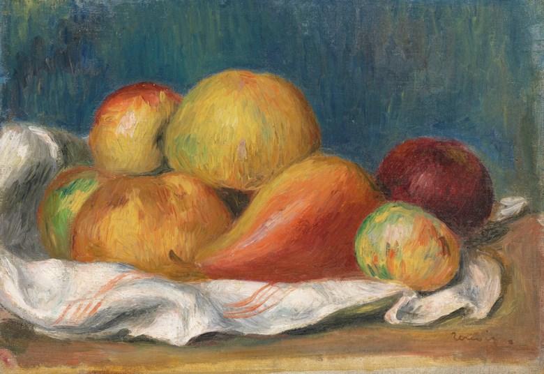 Pierre-Auguste Renoir (1841-1919), Nature morte aux pommes et à poire,circa 1889. 8⅝ x 12¼  in (22 x 31  cm). Sold for £299,250 on 28 February 2019 at Christie's in London