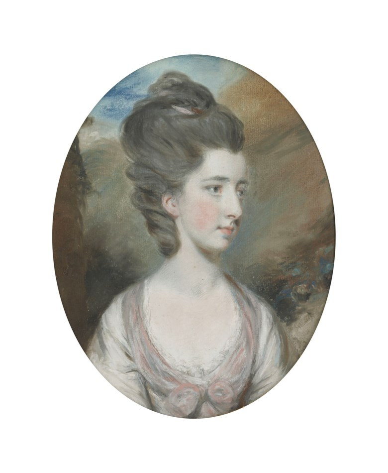 Daniel Gardner, A.R.A. (1750-1805), Portrait of Miss Annabella Powlett Smith, bust-length. 10 x 7⅞  in (25.4 x 20  cm). Pencil, pastel and bodycolour. Estimate £2,000-3,000. Offered in Old Master and British Drawings and Watercolours Including Works from the Collection of Jean Bonna on 2 July 2019 at Christie's in London