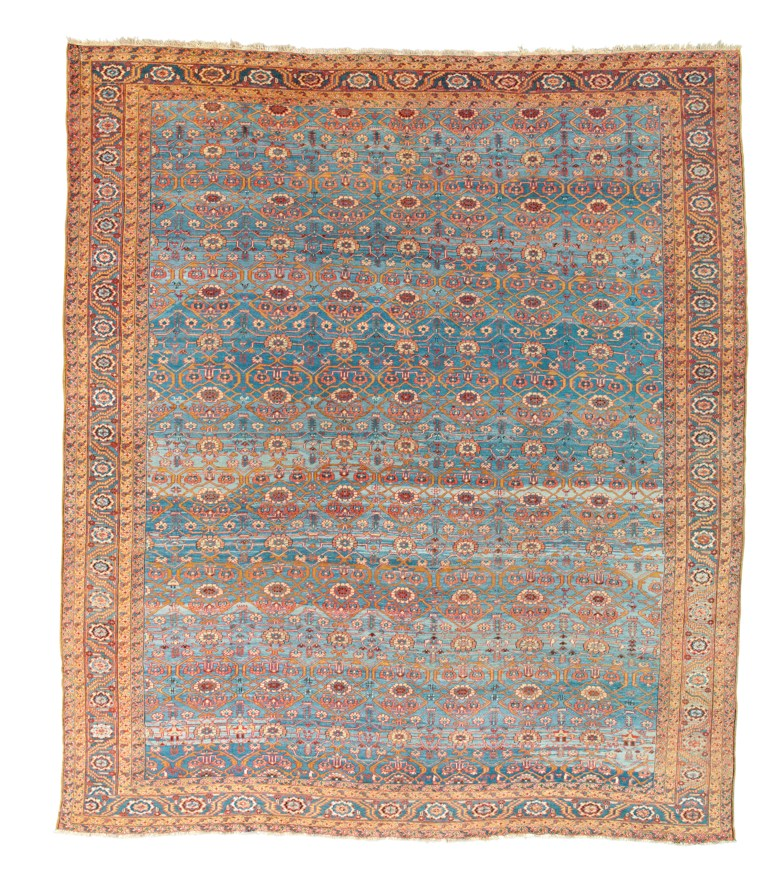A Bakshaish carpet, west Persia, circa 1890. 14 ft 3 in x 12 ft 5 in (437 cm x 383 cm). Sold for £22,500 on 24 October 2019 at Christie's in London