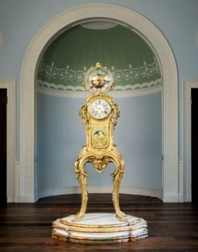 A FRENCH ORMOLU ASTRONOMICAL CLOCK