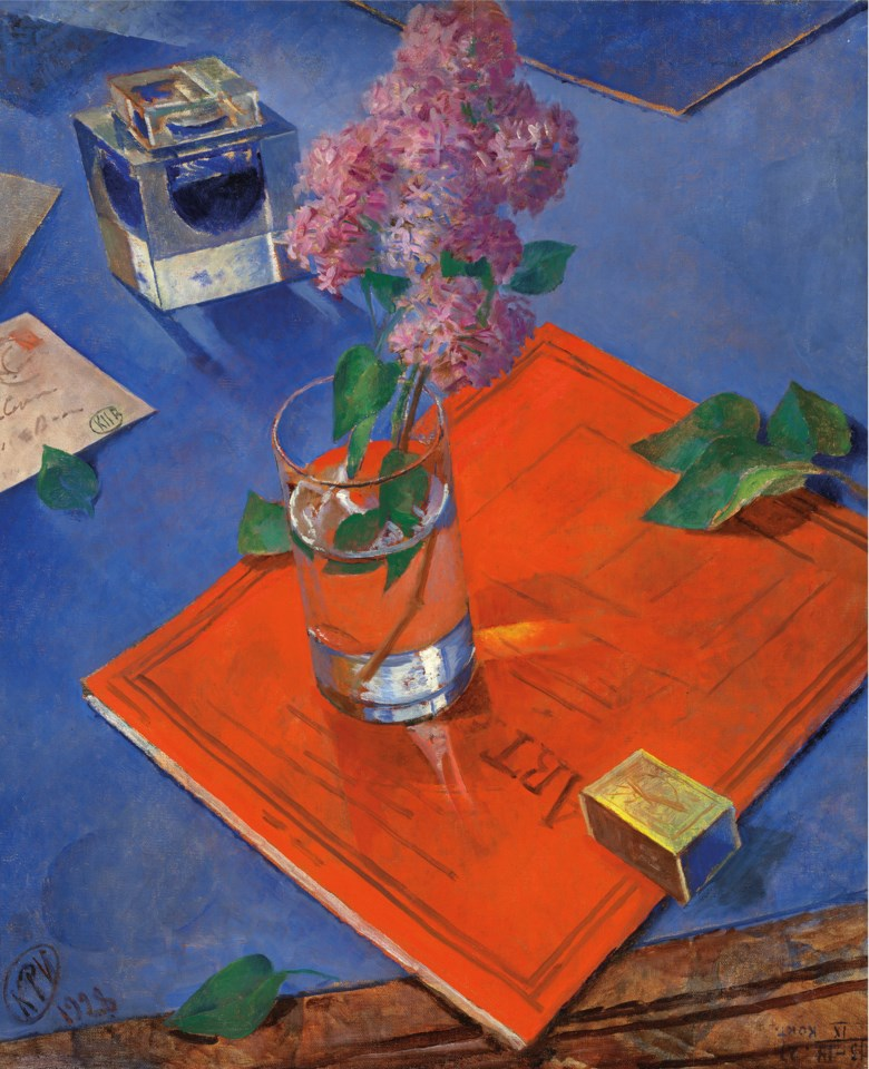 Kuzma Petrov-Vodkin (1878-1939), Still life with lilac, 1928. Oil on canvas. 31⅜ x 25 ¾  in (80 x 65.4  cm). Sold for £9,286,250 on 3 June 2019 at Christie's in London