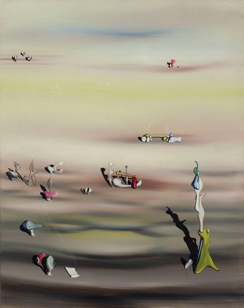 Yves Tanguy (1900-1955), L'Extinction des espèces II, painted in 1938. 36¼ x 28¾  in (92 x 73  cm). Sold for £3,131,250 on 18 June 2019 at Christie's in London