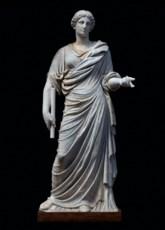 A MONUMENTAL ROMAN MARBLE DRAP