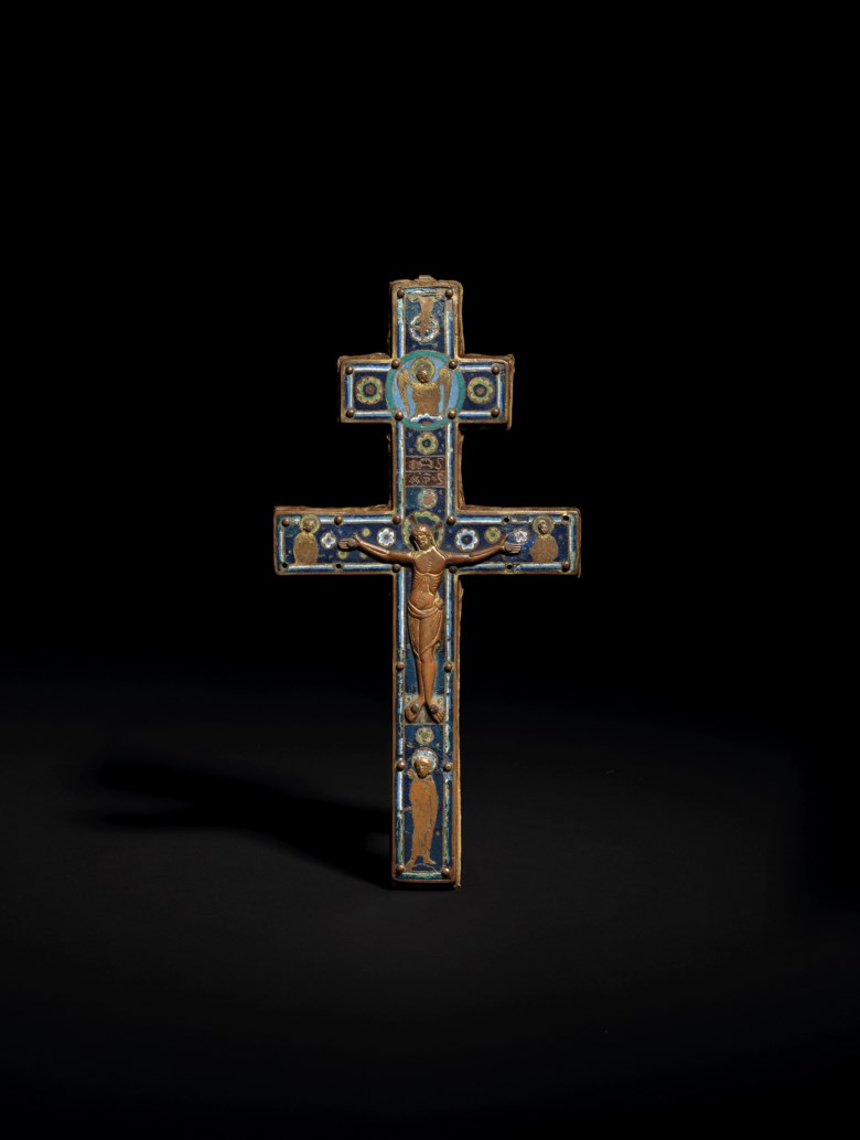 Limoges, 'Patriarchal' cross, circa 1190-1210. 11¾  in (29.8  cm) high. Sold for £162,500 on 3 December 2019 at Christie's in London