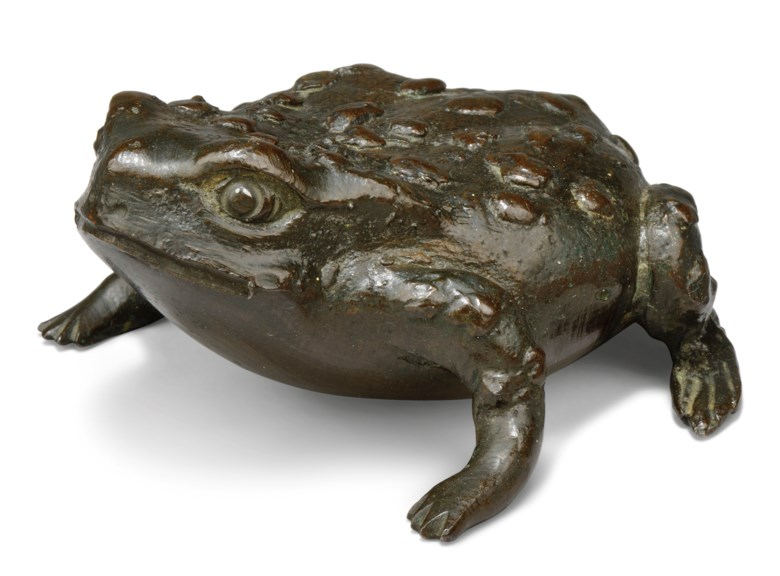 Italian, Paduan, 16th century, Toad. 3½  in (8.7  cm) long. Estimate £3,000-5,000. Offered in Old Master Paintings and Sculpture on 4 December 2019 at Christie's in London