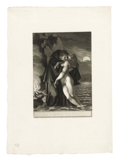 Pierre-Paul Prud'hon (1758-1823), Phrosine et Mélidore, circa 1797. Etching with engraving on wove paper. Image 211 x 146  mm. Sheet 366 x 262  mm. Estimate £800-1,200. Offered in Old Master Prints on 10 December 2019 at Christie's in London