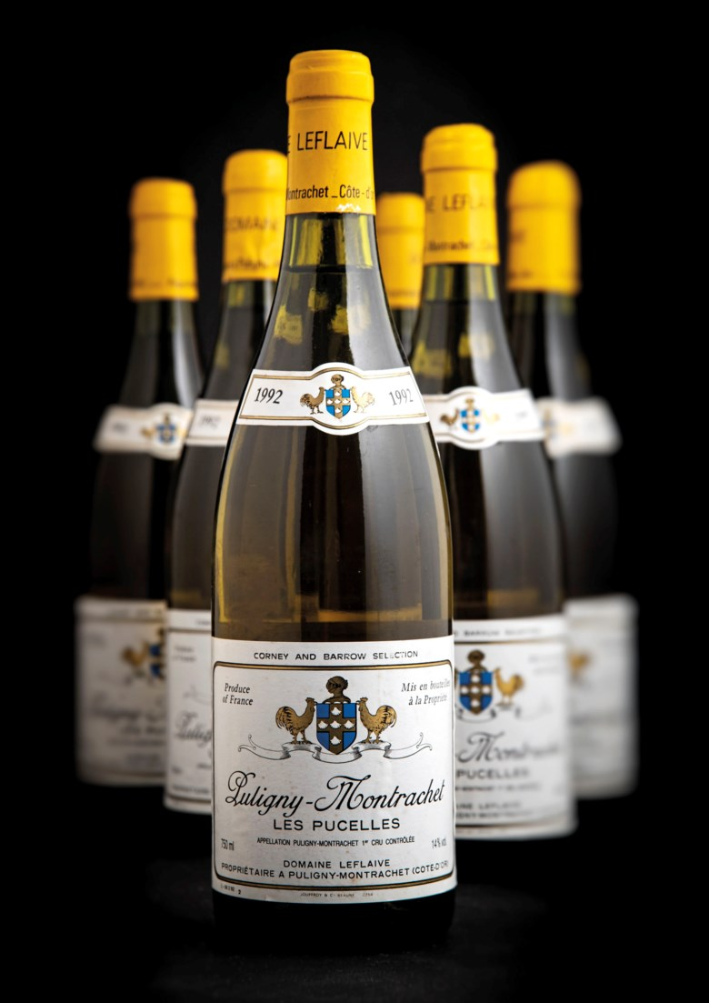 Domaine Leflaive, Puligny-Montrachet Les Pucelles 1992, 12 bottles per lot.Estimate £2,400-3,200. Offered in Fine and Rare Wines Including Rare Burgundy to Benefit Maison Jacques Copeau on 20 March 2019 at Christie's in London