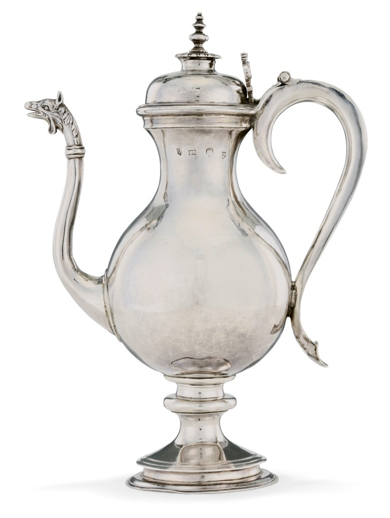 A Charles I silver ewer, London, 1625. 12¼  in (31  cm) high. Estimate £150,000-200,000. Offered in The David Little Collection of Early English Silver on 3 December 2019 at Christie's in London
