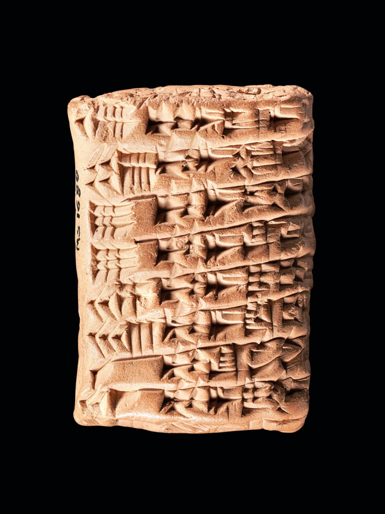 An old Babylonian cuneiform clay tablet of the Ur-Isin king list, Isin, 1813-1812 BC. Estimate £15,000-25,000. Offered in The History of Western Script Important Antiquities and Manuscripts from the Schøyen Collection on 10 July 2019 at Christie's in London