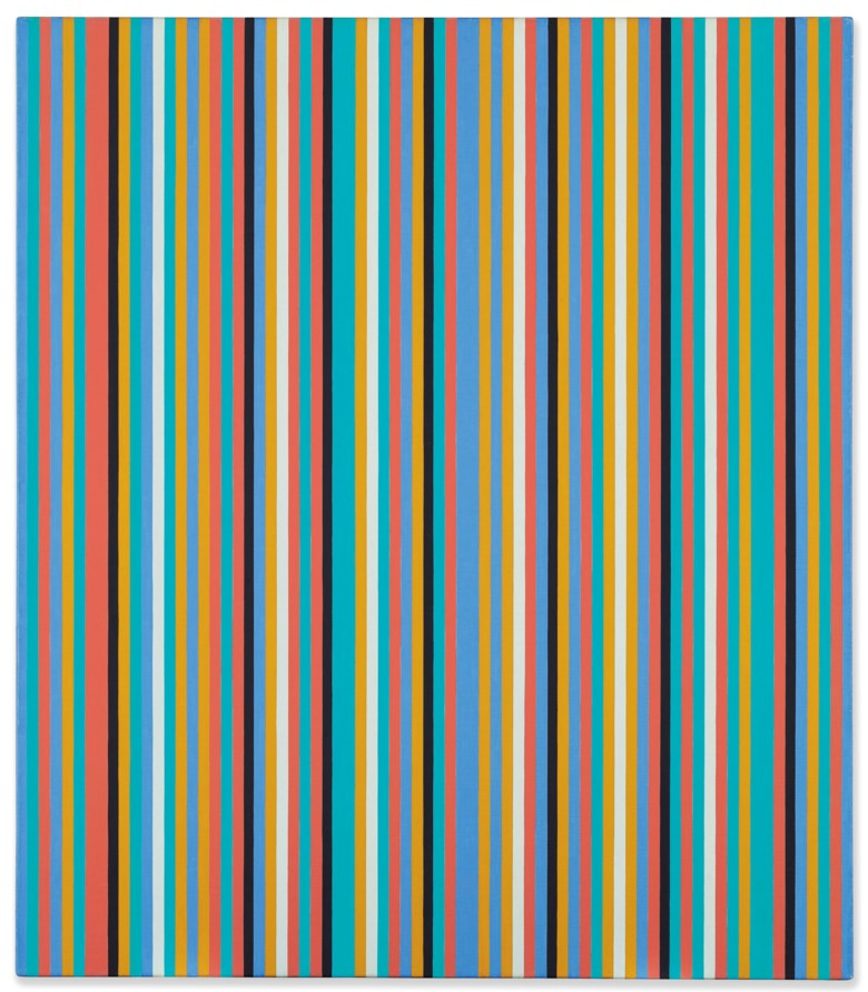 Bridget Riley (b. 1931), Songbird, painted in 1982. Sold for £791,250  on 14 March 2019 at Christie's in London